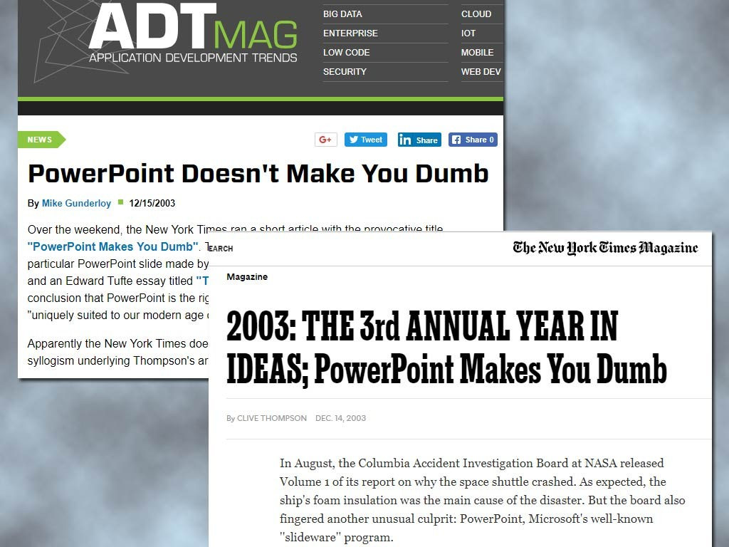 PowerPoint Makes You Dumb