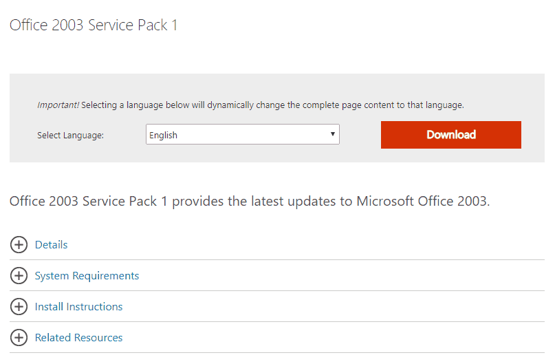 Office 2003 Service Pack By June