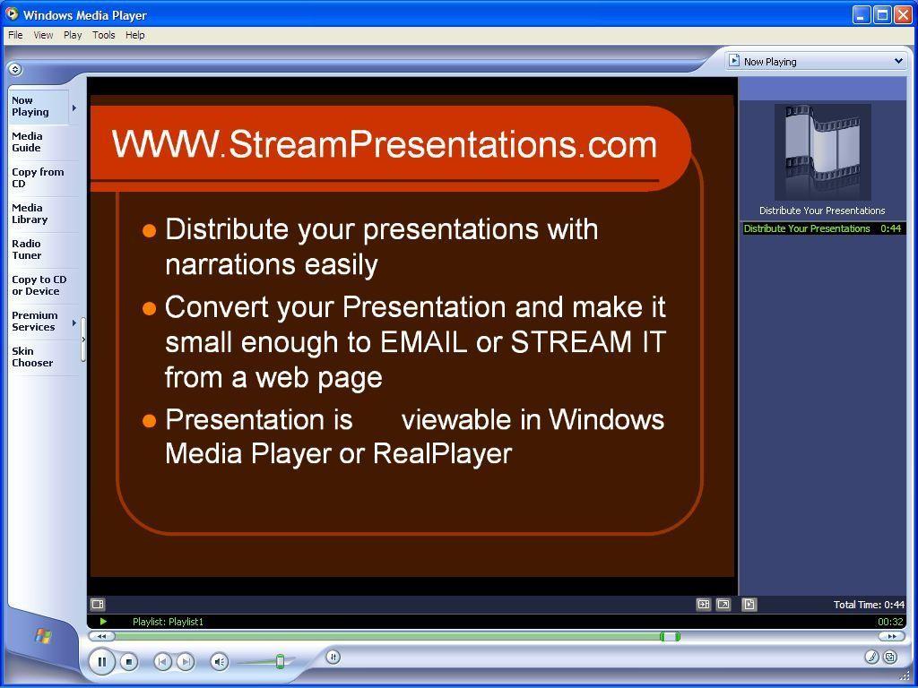 Stream Presentations