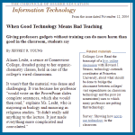 When Good Technology Means Bad Teaching