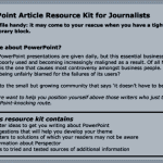 PowerPoint Article Resource Kit for Journalists