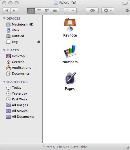 iWork 08 Folder