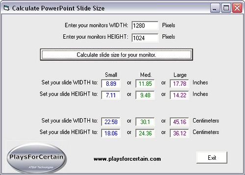 Calculate for PowerPoint
