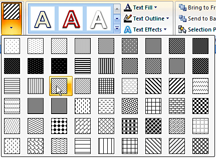 Pattern Fills add-in from PowerPoint
