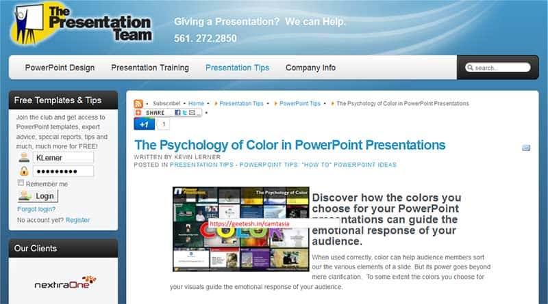 Article on your Website or Blog