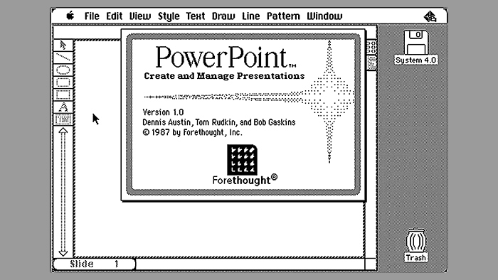 Dennis Austin was the first architect who designed the PowerPoint program
