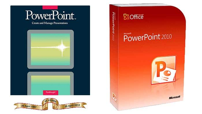 PowerPoint boxes, then and now