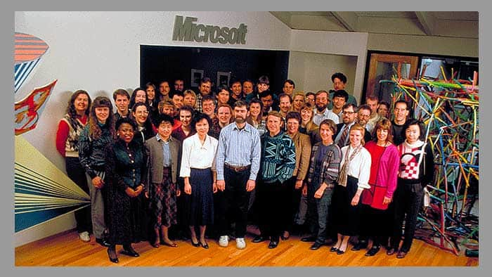 The PowerPoint group at Microsoft Menlo Park in 1992