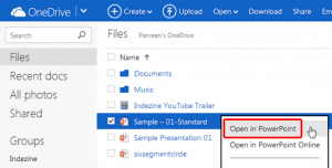 Open from OneDrive in PowerPoint for Windows