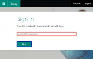 Sign into Microsoft Sway
