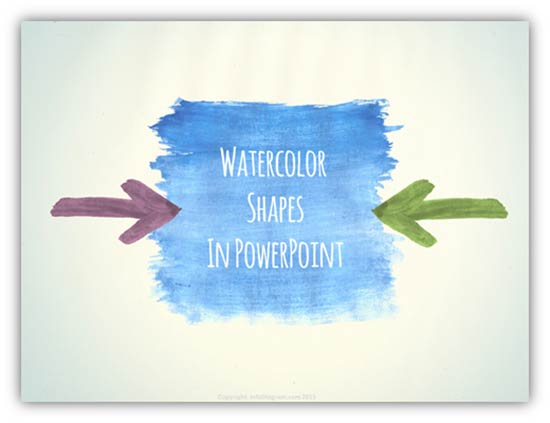 power of watercolor visuals in slide design  by peter