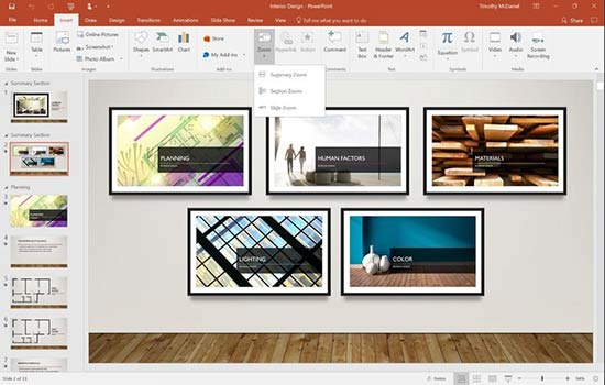 new powerpoint zoom feature for office 365 users