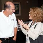 Rick Altman with a patron