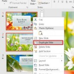 Duplicate Slides in PowerPoint 2016 for Windows