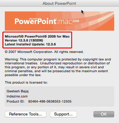 PowerPoint for Mac 2008
