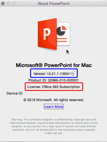 PowerPoint for Mac 365