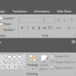 Ribbon and Tabs in PowerPoint 2016 for Windows