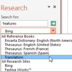Translation in PowerPoint 2013 for Windows