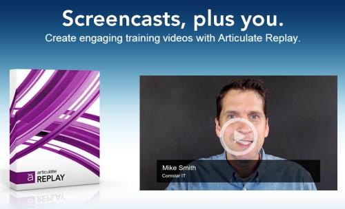 Articulate Replay for screencast tutorials