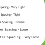 Character Spacing in PowerPoint 2013