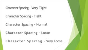 Character Spacing in PowerPoint 2013 for Windows