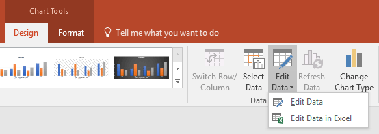 Edit Chart Data in PowerPoint 2016 for Windows