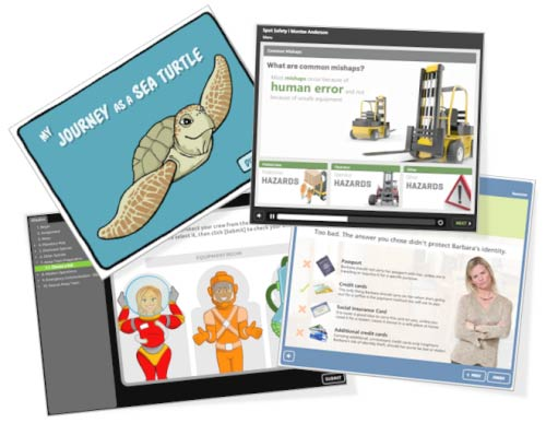 elearning examples created in Articulate Studio '13 and PowerPoint