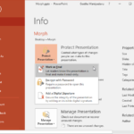 Mark as Final Option in PowerPoint 2016 for Windows