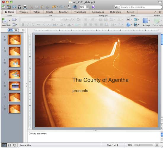 how to put pictures on powerpoint for mac