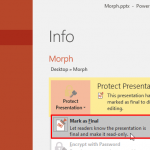 Remove Mark as Final Option in PowerPoint 2016 for Windows
