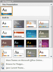 Which Themes Are Installed Within Office Versions?