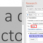 Translation in PowerPoint 2016 for Windows