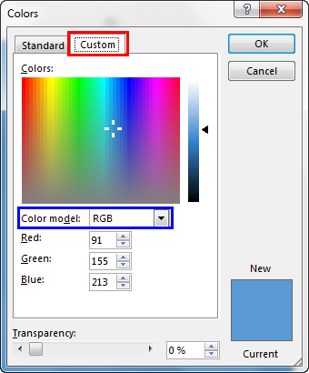 Working with RGB Colors in PowerPoint 2013
