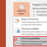 Check Compatibility in PowerPoint 2016 for Windows