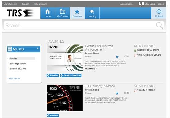 Brainshark Sales Enablement Portal