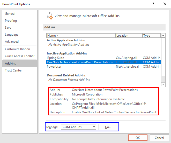 how to view add ins in word 2016