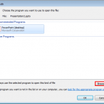 Set PowerPoint 2013 for Windows as the Default Version
