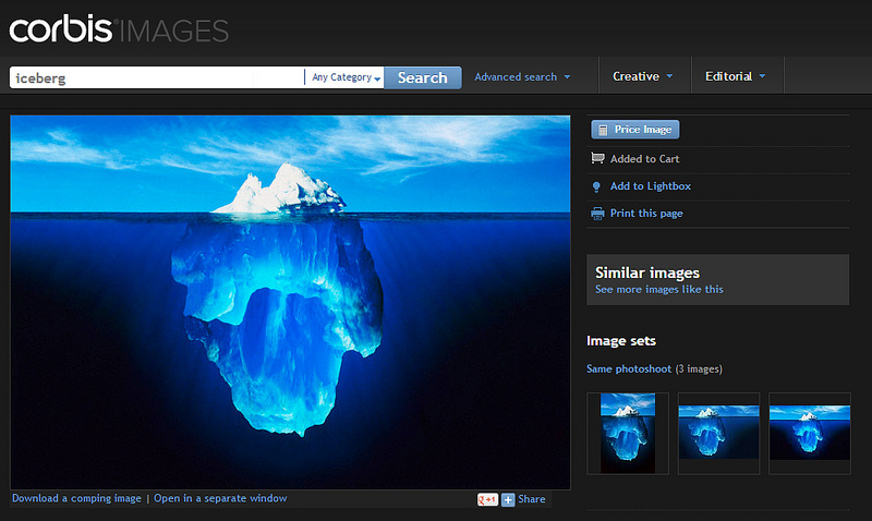 Iceberg Picture on Corbis