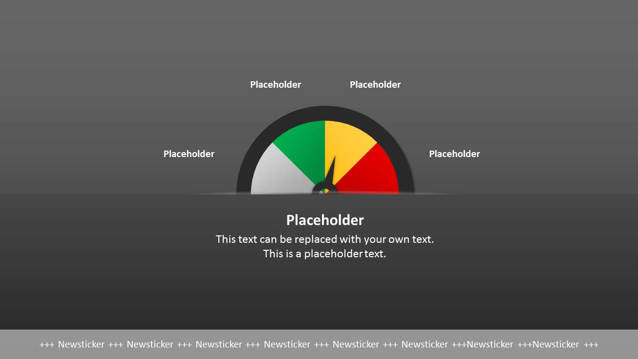 Tachometer Chart in PowerPoint