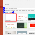 Backstage View - New Tab in PowerPoint 2016 for Windows