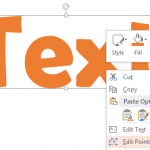Convert Text to Outlines in PowerPoint