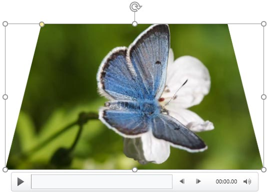 Video Shapes in PowerPoint 2016 for Windows