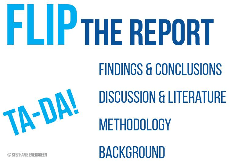 Flip The Report by Stephanie Evergreen