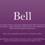 Explore Fonts: Bell MT