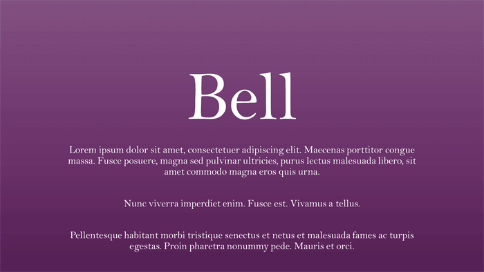 Explore Fonts: Bell MT