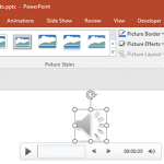 Format Tab for Audio Clips in PowerPoint 2016 for Windows