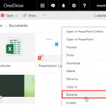 Rename Files in PowerPoint Online and OneDrive