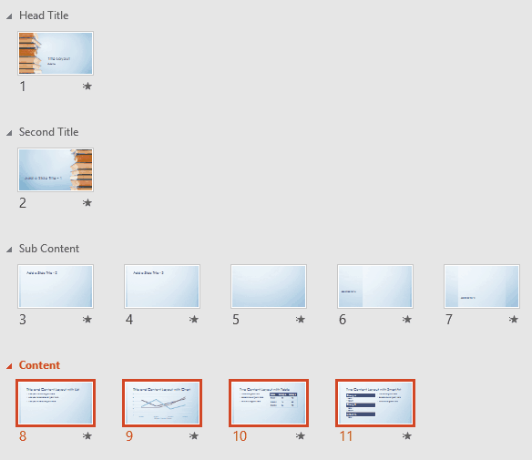 Reordering Sections in PowerPoint 2016 for Windows