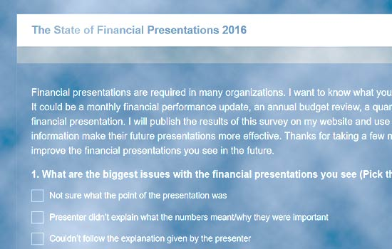 2016 State of Financial Presentations