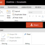 Ribbons and Tabs in PowerPoint Online